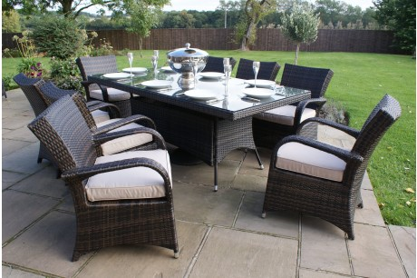 Maze Rattan - Texas 8 Seat Rectangle Dining Set