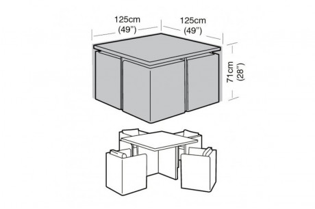 4 Seater Cube Set Cover