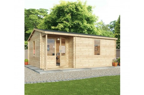 Mercia 5.8m x 5m Home Office Executive Plus Log Cabin