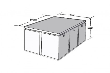 6 Seat Cube Set Furniture Cover