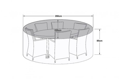 Maze Rattan 6 Seat Oval Dining Set Garden Furniture Cover