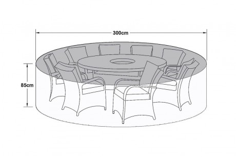 Maze Rattan 8 Seat Round Garden Dining Set Furniture Cover