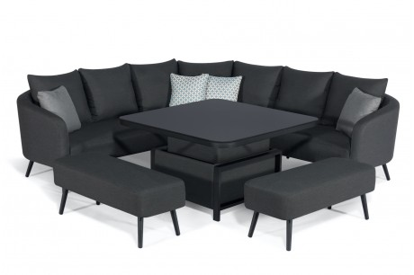 Maze Ambition Corner Sofa Set With Rising Table