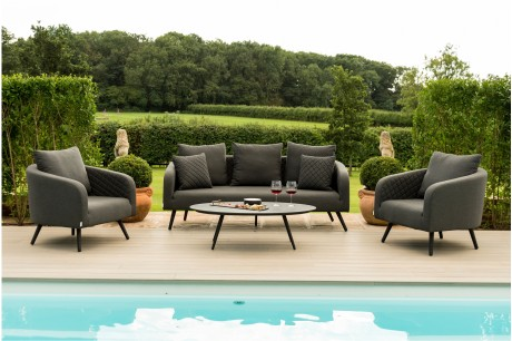 Ambition 3 seat all weather Garden Sofa Set - Maze Rattan