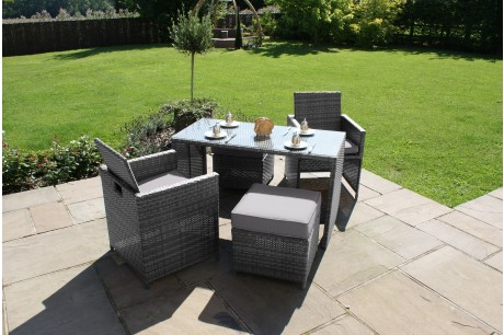 Maze Rattan Balcony Garden Furniture Cube Set - Image 1