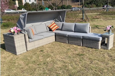 Cambridge Deluxe Canopy Garden Corner Sofa Set