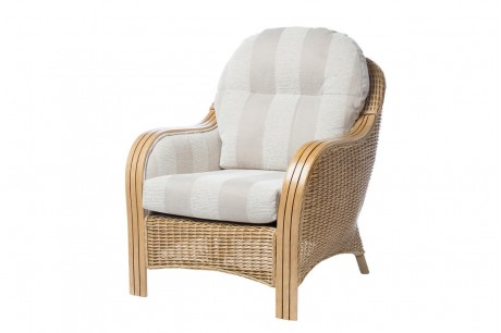 Desser Centurion Light Oak Armchair in Oatmeal