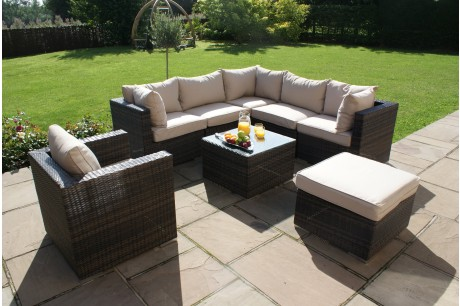 Maze Rattan - London Corner Group with Armchair