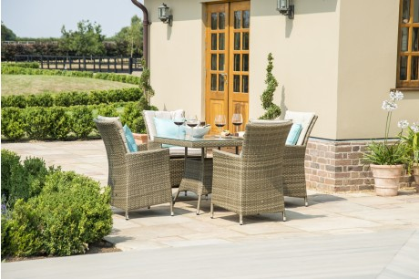 Maze Rattan Tuscany LA 4 Seat Square Outdoor Dining Set