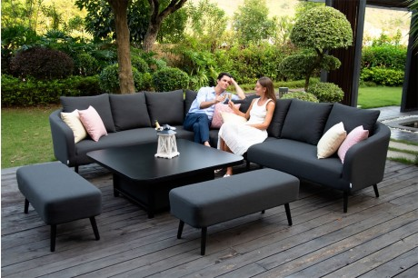 Maze Ambition Outdoor Fabric Garden Furniture - Charcoal