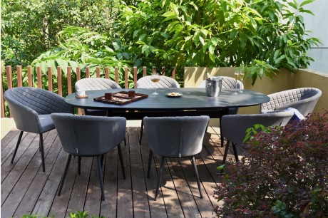 Maze Ambition Outoor Fabric 8 Seat Oval Garden Dining Set