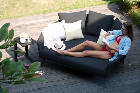 Maze Rattan Ark Outdoor Fabric Daybed