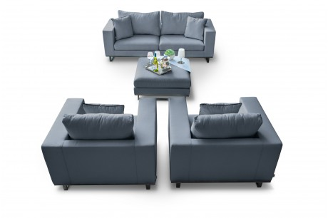 Maze Lounge Ego All Weather Fabric Garden Sofa Set image 1