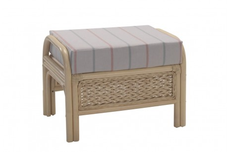 Desser Harlow Footstool in Linen Blush