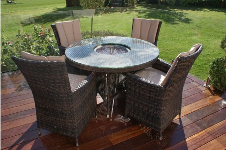 Dining Set with a Luxury Inset Ice Bucket Table