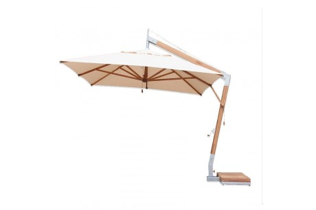Bambrella side wind levante 3x4m rectangular parasol - ecru