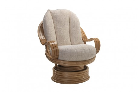 Desser Madrid Light Oak Swivel Rocker Chair in Jasper