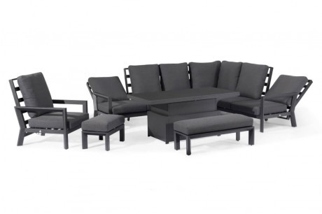 Maze Mahattan Reclining Corner Dining Set With Rising Table & Armchair