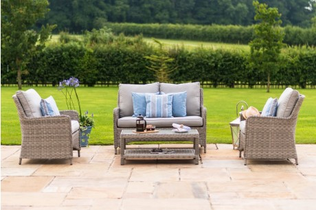 Maze Rattan Oxford High Back Garden Sofa Set