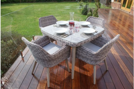 Maze Rattan - Paris 4 Seater Square Dining Set