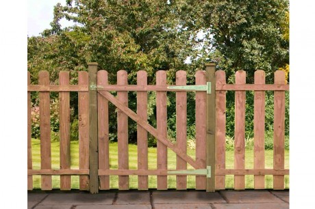 Pallisade Gate Rounded Top 915mm - Pressure Treated