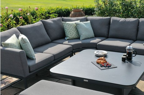 Maze - Outdoor Fabric Pulse U Shape Corner Dining Set With Rising Table