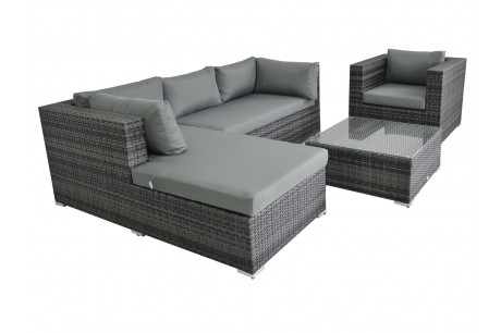 Maze Rattan Cannes 4 Piece Sofa Set With Coffee Table - Image 1