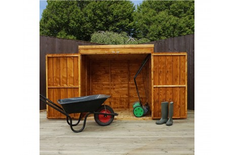 Mercia 4x3ft Overlap Wooden Garden Mower & Tool Store