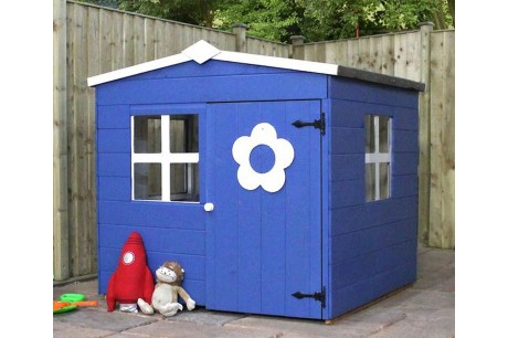 Mercia Bluebell 4x4ft Wooden Playhouse In Blue Colour