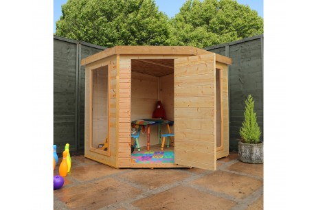 Mercia Contemporary Corner Style Wooden Playhouse - Mercia Garden Product