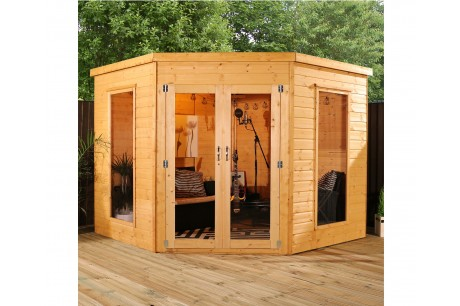 Mercia 8ft x 8ft Premier Corner Summerhouse