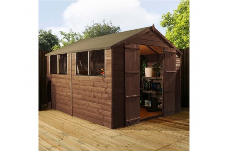 Mercia 10x8ft Pressure Treated Shiplap Apex Garden Shed