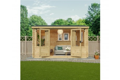 Mercia 4x3m Grizedale Tongue and Groove Apex 19mm FSC Timber Dip Treated Log Cabin