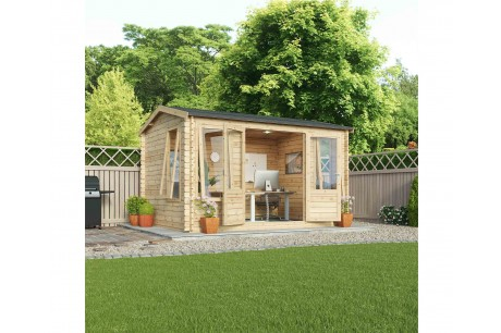 Mercia 4m x 3m Garden Office Director Log Cabin