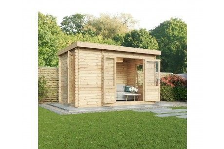 Mercia 2.5m x 4m Zen Garden Office Log Cabin
