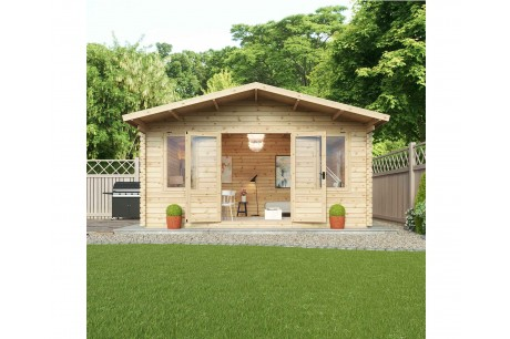 Mercia 5m x 5m Haven Office Log Cabin