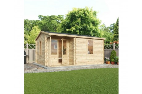 Mercia 5m x 4m Home Office Executive Plus Log Cabin