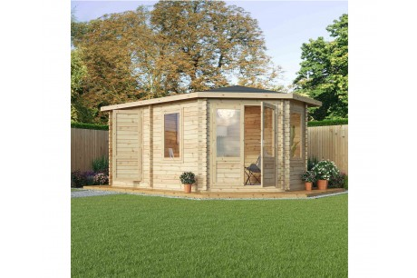 Mercia 5m x 3m Corner Lodge Plus Log Cabin - Right Handed