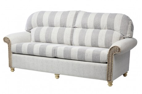 Desser Stamford Traditional Back 3 Seat Conservatory Sofa in Athena Stripe