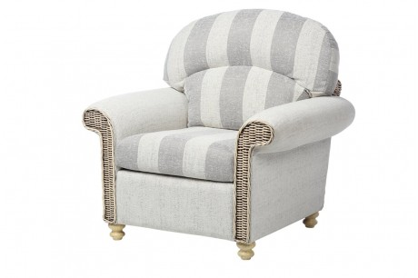 Desser Stamford Traditional Conservatory Armchair in Athena Stripe
