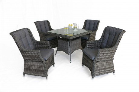 Maze Rattan **NEW** Victoria 4 Seat Square Dining Set