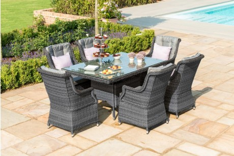 Maze Rattan **NEW** Victoria 6 Seat Rectangular Dining Set