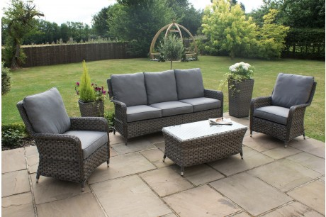 Maze Rattan NEW Victoria 3 Seat High Back Sofa Set