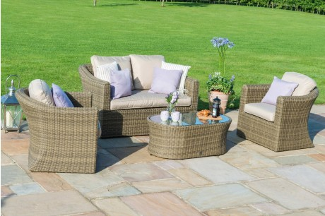Maze Rattan Winchester 2 Seat Garden Sofa Set With Two Armchairs