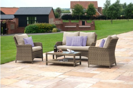 Maze Rattan Winchester Square High Back Sofa Set