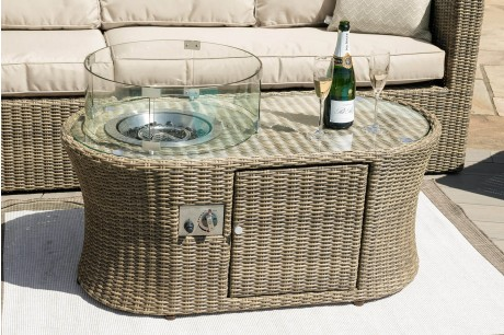 Maze Rattan - Winchester Oval Fire Pit Coffee Table