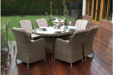 Winchester Venice 6 Seat Oval Dining Set - Image 1
