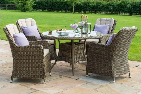 round 4 seat winchester venice dining set