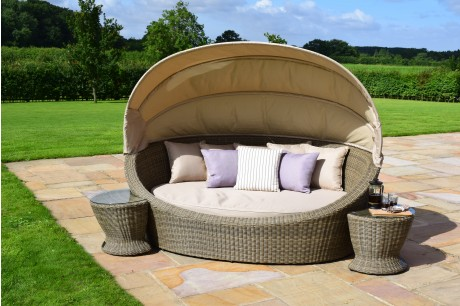 Maze Rattan Winchester Daybed with Side Tables - Images 1