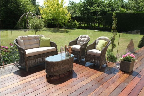 Maze Rattan - Winchester Round High Back Sofa Set